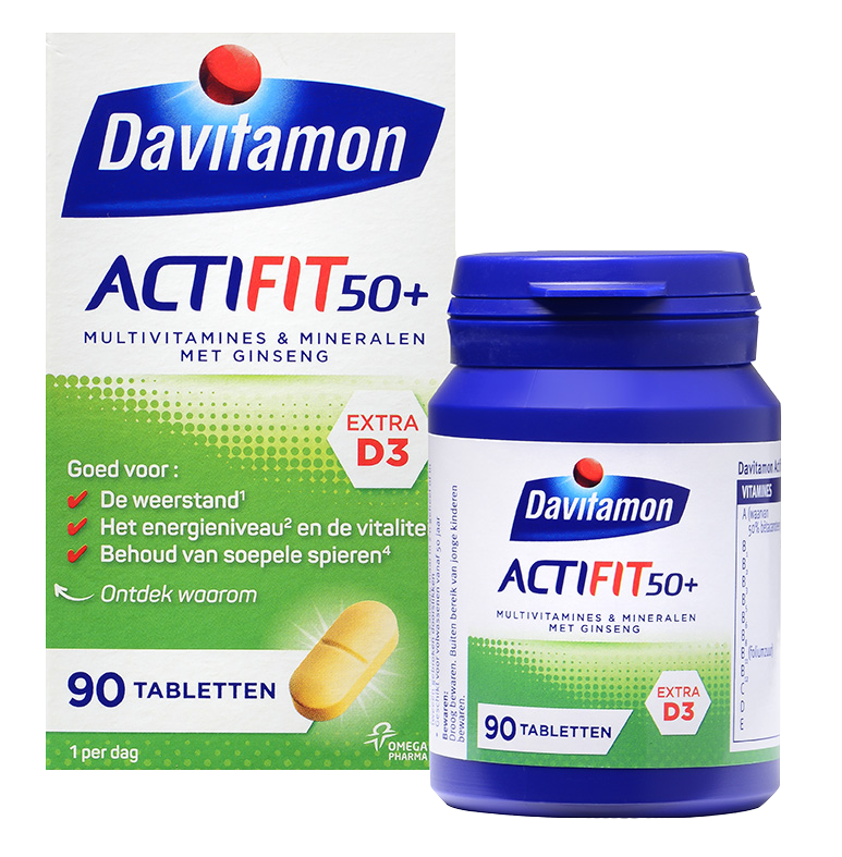 Davitamon Actifit 50<sup>+</sup> &#8211; <br>90 tabletten