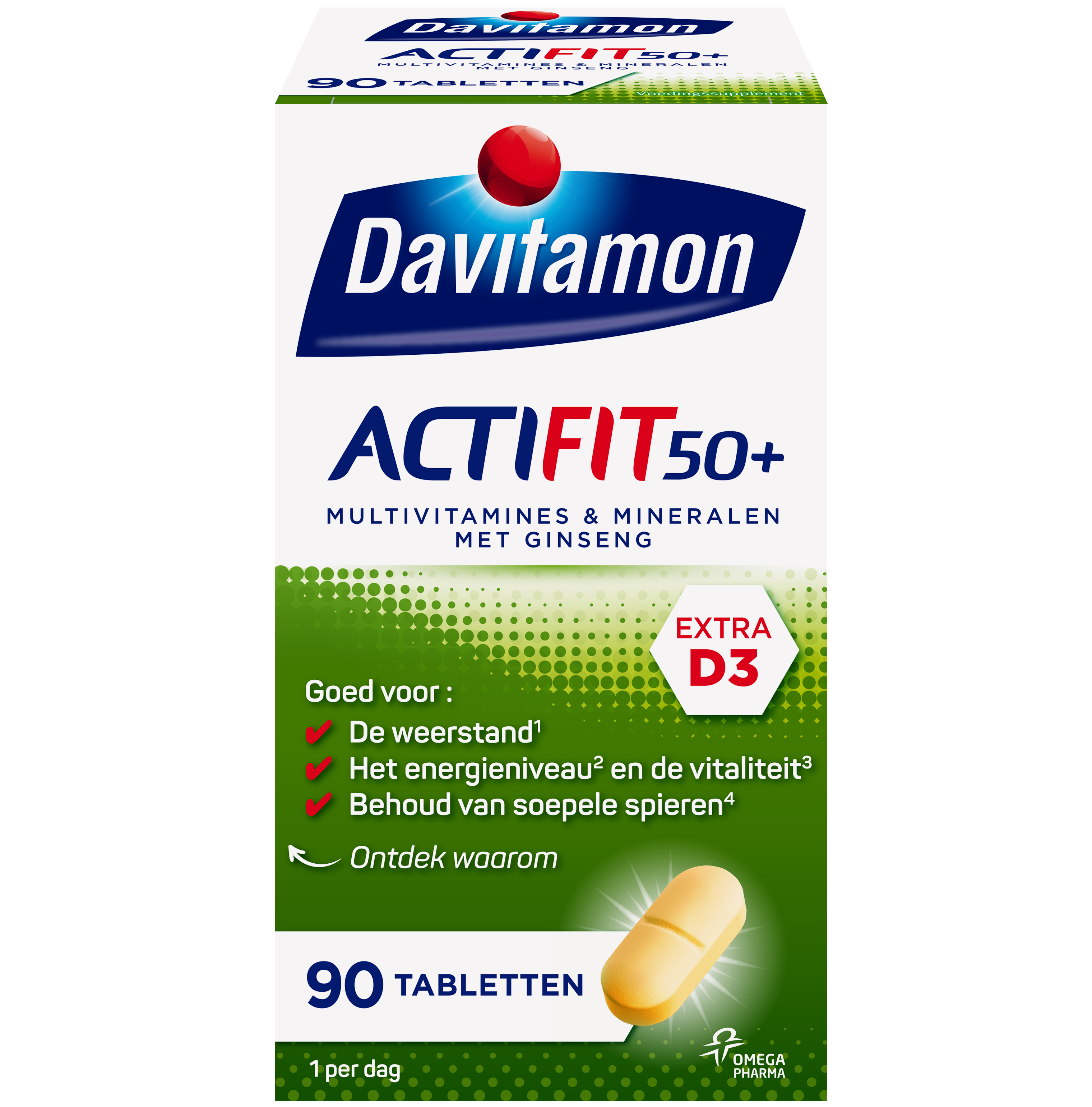 Davitamon Actifit 50+ Tabletten Verpakking