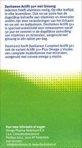 Davitamon Actifit 50+ Tabletten Beschrijving