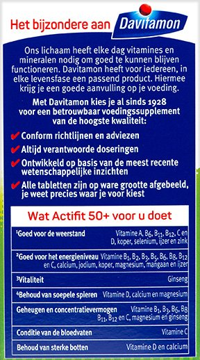 Davitamon Actifit 50+ Tabletten Gezondheidsraad