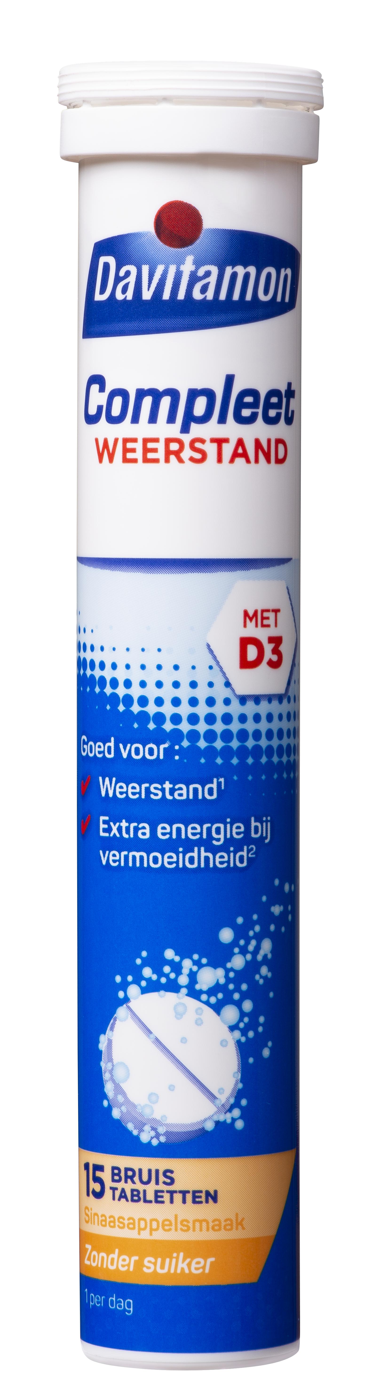 Davitamon Compleet Weerstand – 15 Bruistabletten