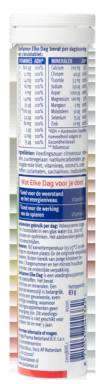 Davitamon Elke Dag Bruistabletten Ingredienten
