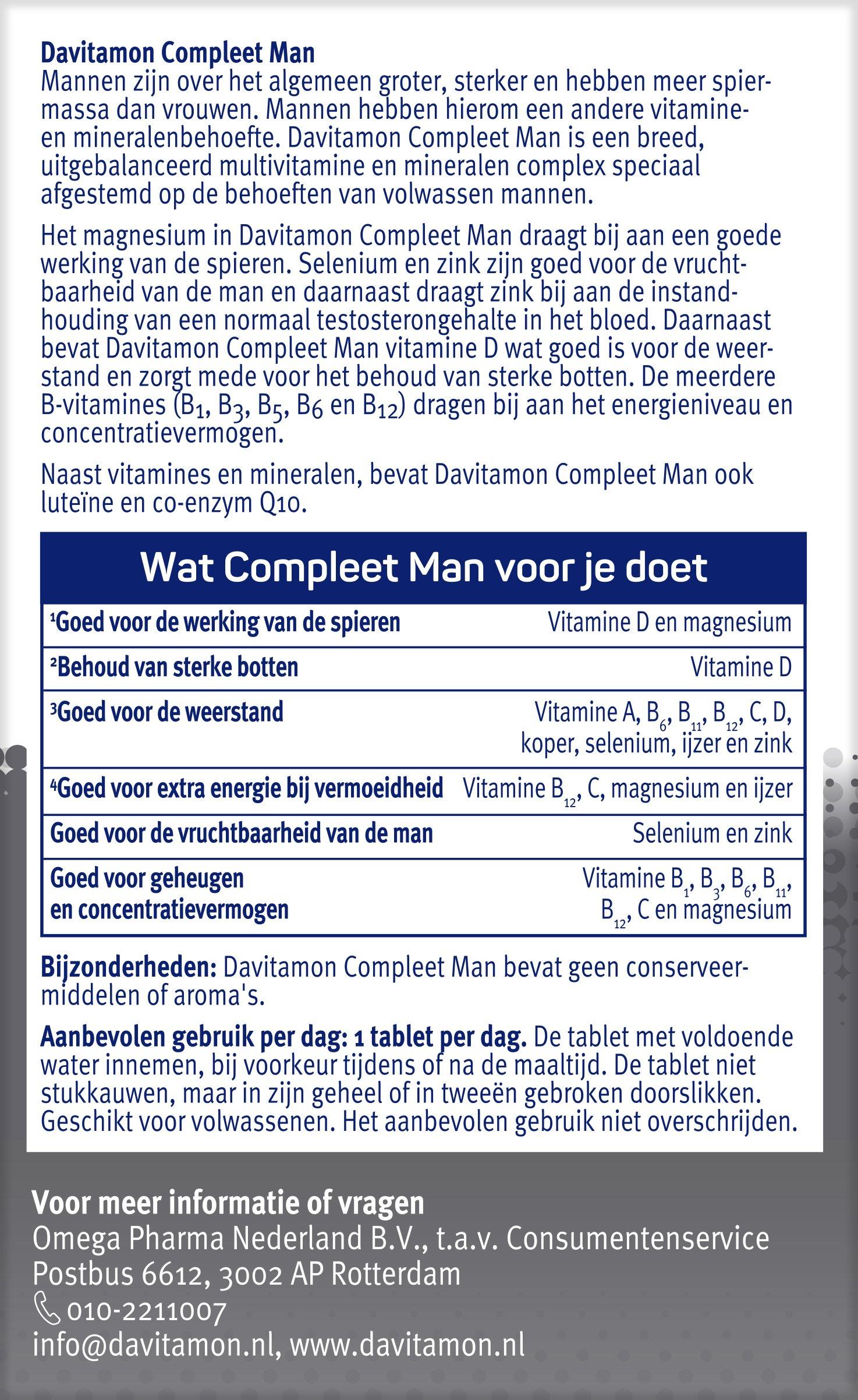 Davitamon Compleet Man Tabletten Ingredienten
