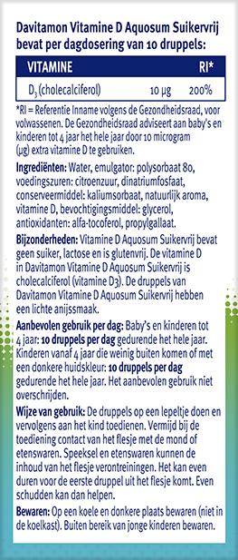 Davitamon Vitamine D Aquosum Suikervrij advies ADH