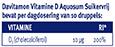 Davitamon Vitamine D Aquosum Suikervrij Dosering 2