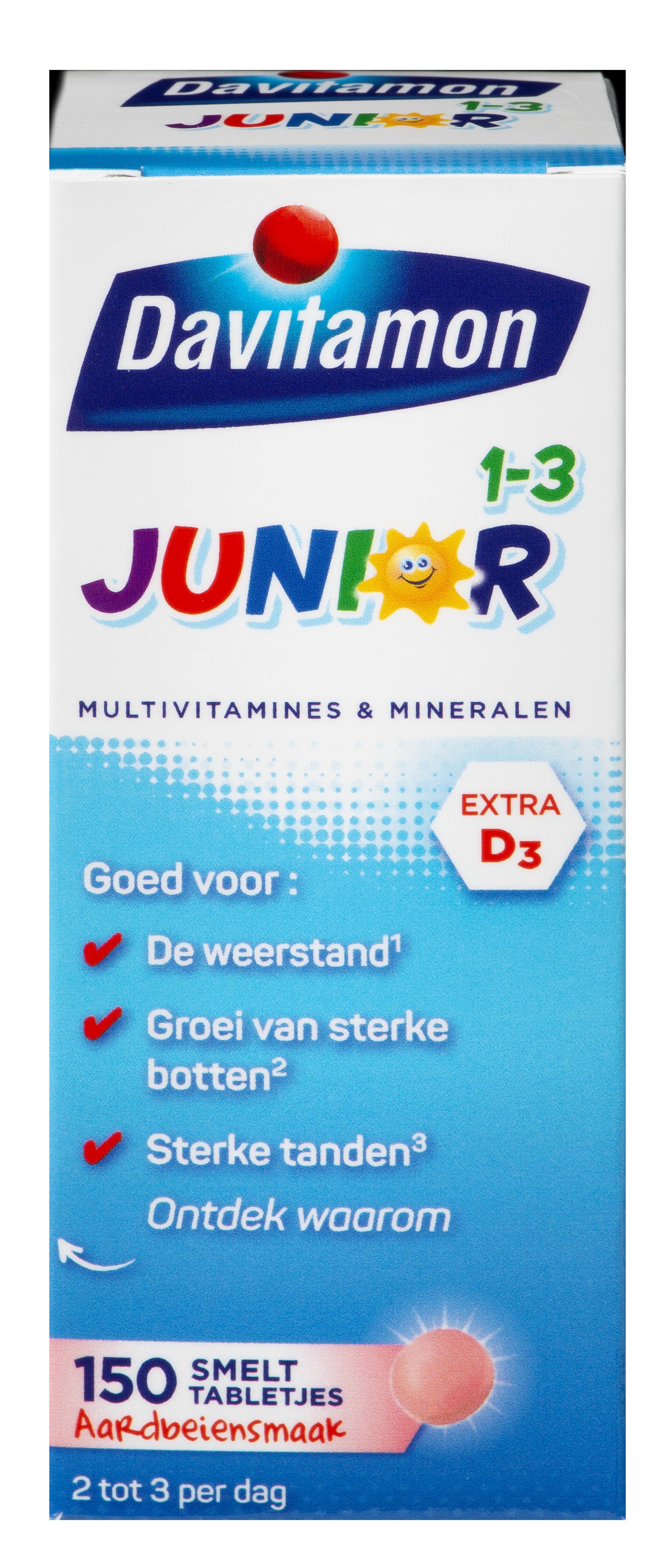 Junior 1-3 150 smelttabletjes aardbeiensmaak
