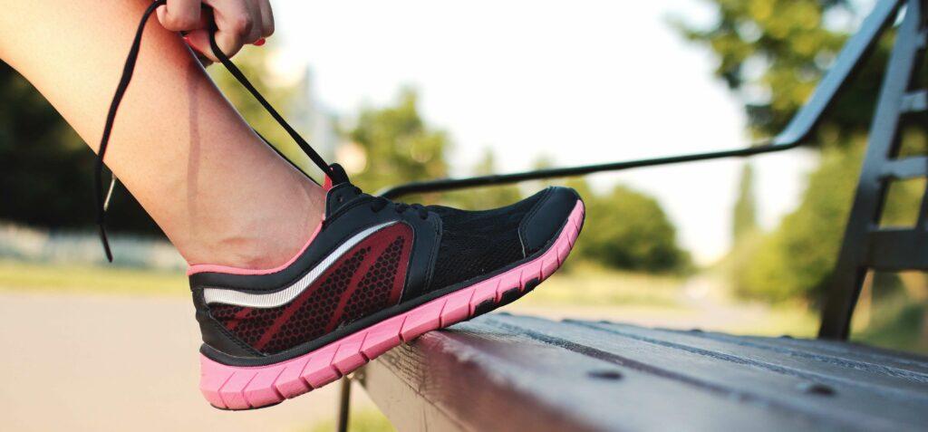 Hardloopschoen met losse veters