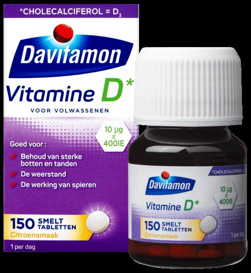 Davitamon Vitamine D voor Volwassenen – 150 smelttabletten