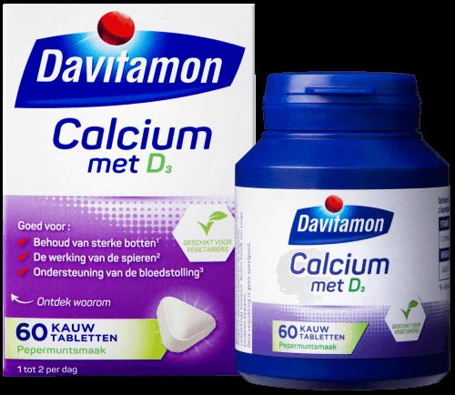 Davitamon Calcium met Vitamine D – 60 kauwtabletten