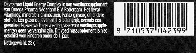 Davitamon Liquid Energy Complex Barcode