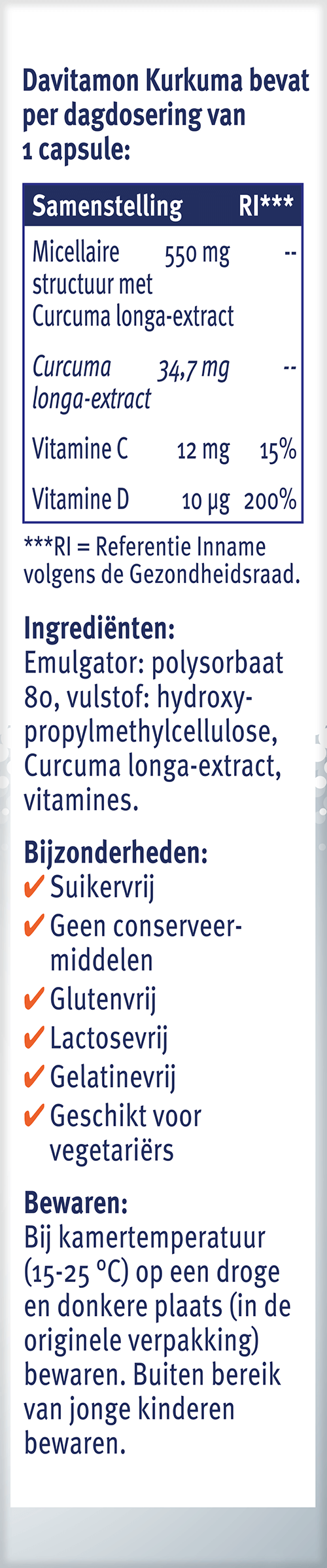 Davitamon Kurkuma Ingrediënten