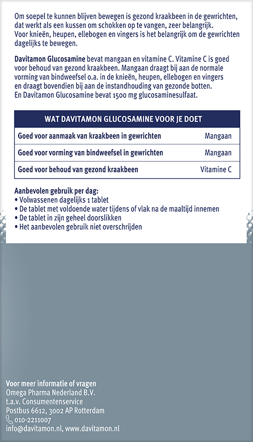 Davitamon Glucosamine uitleg werking