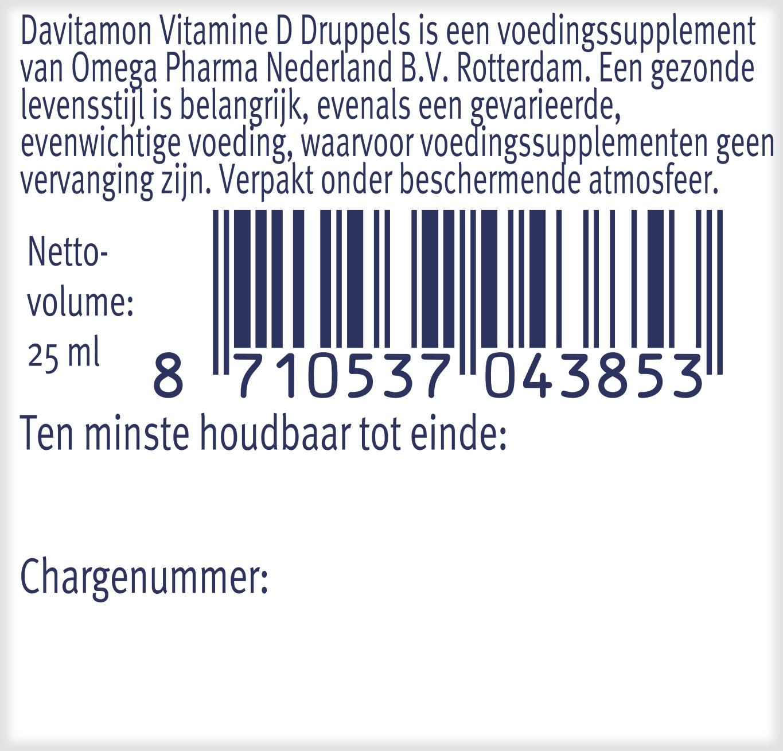 Davitamon Vitamine D 100 procent natuurlijk verpakking