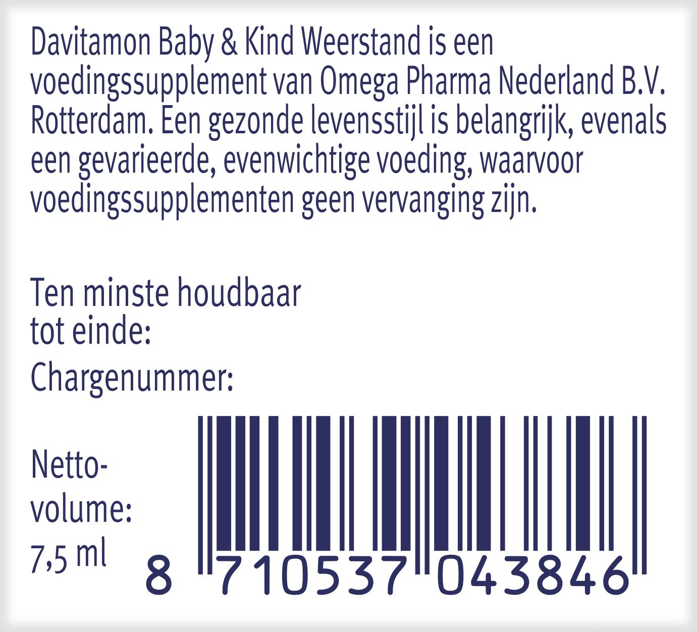 Davitamon Baby & Kind Weerstand barcode