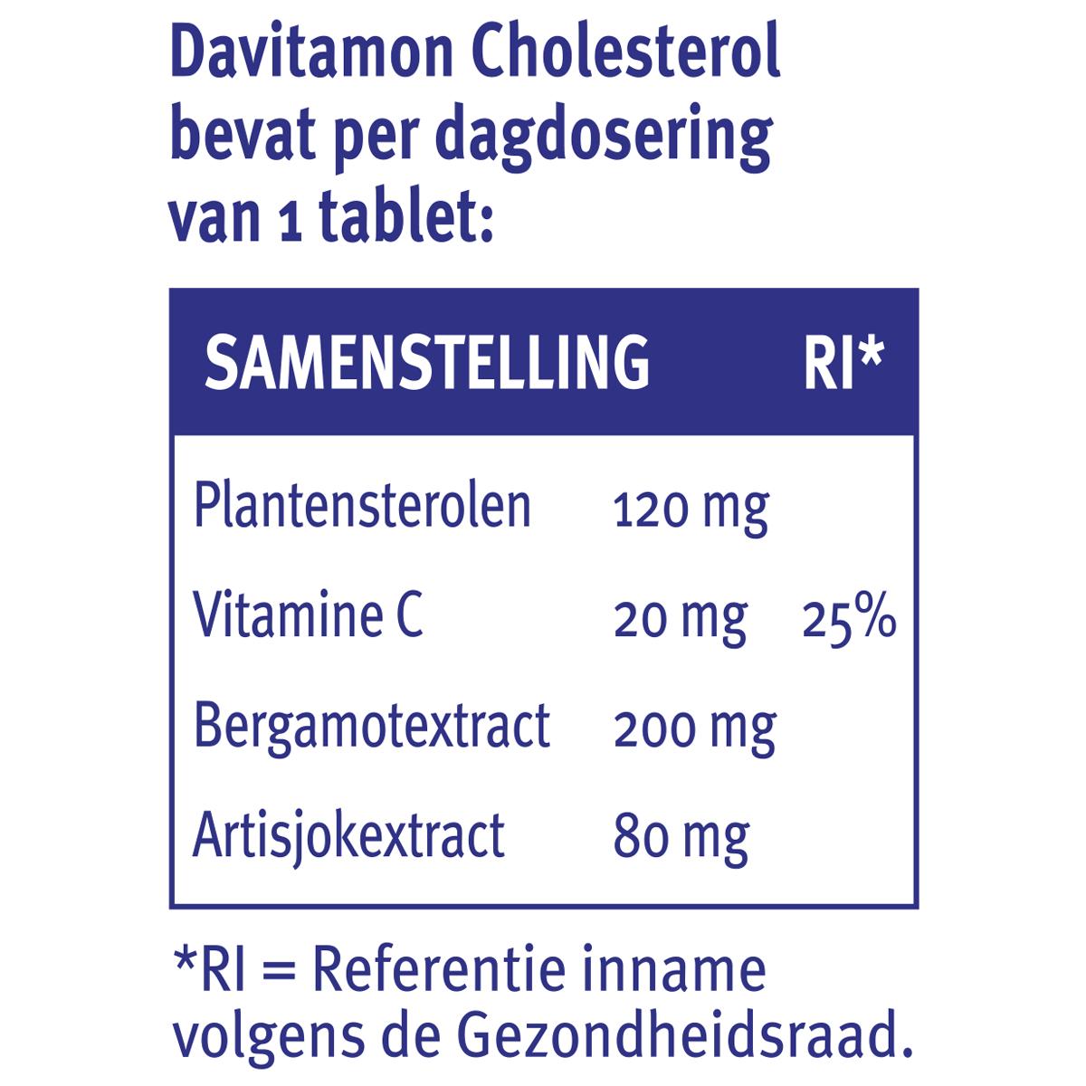 Samenstelling Davitamon Cholesterol voor volwassenen