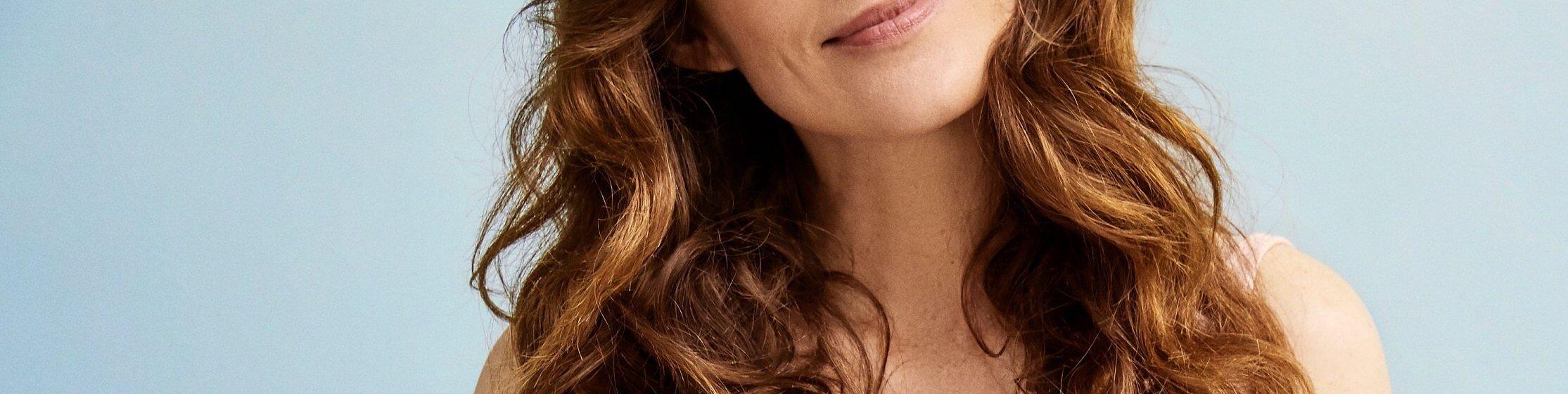 Vrouw met bruine haren