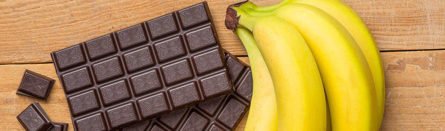 Pure chocola en tros bananen