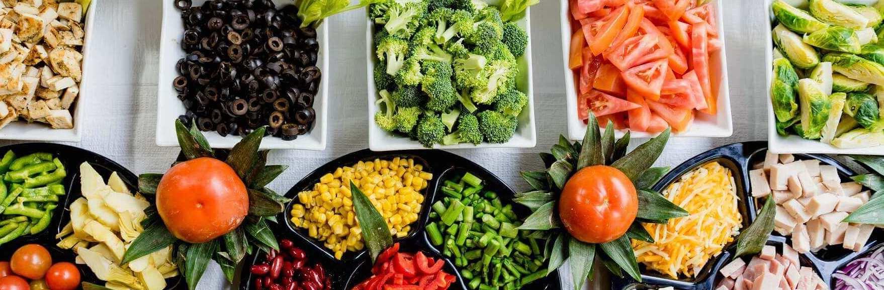 Tafel vol met groenten