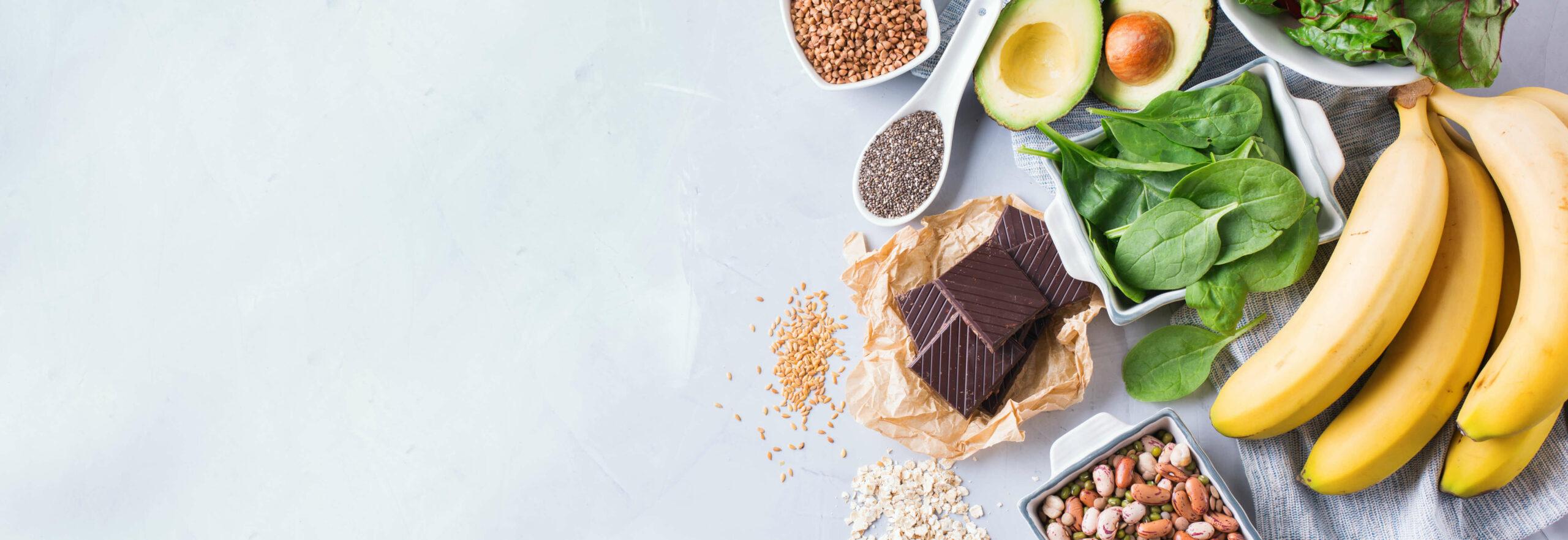 Chocola, spinazie, avocado, zaden