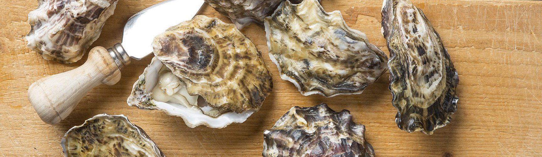 Oesters met een oestermes
