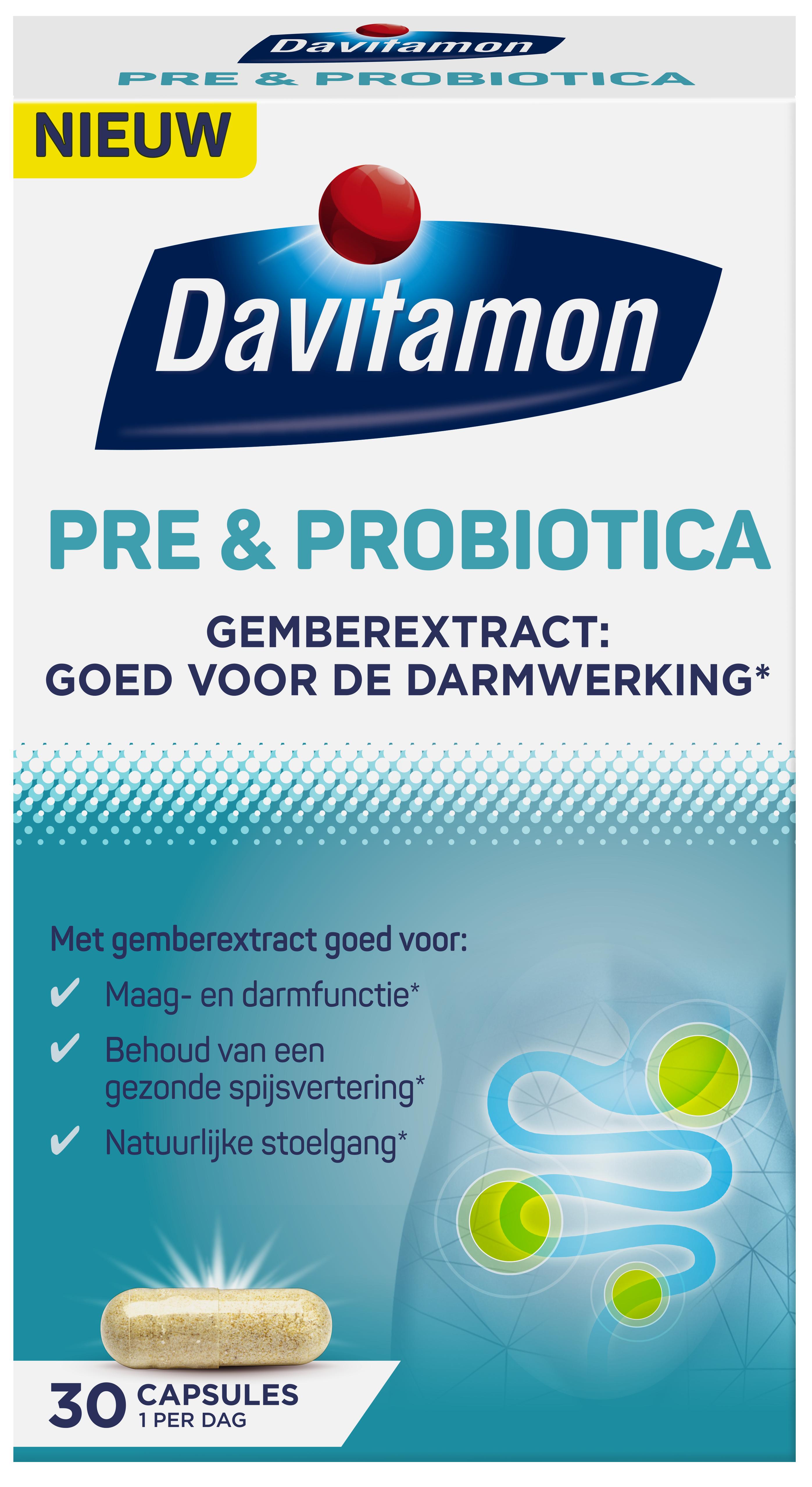 Davitamon Pre & Probiotica met gemberextract