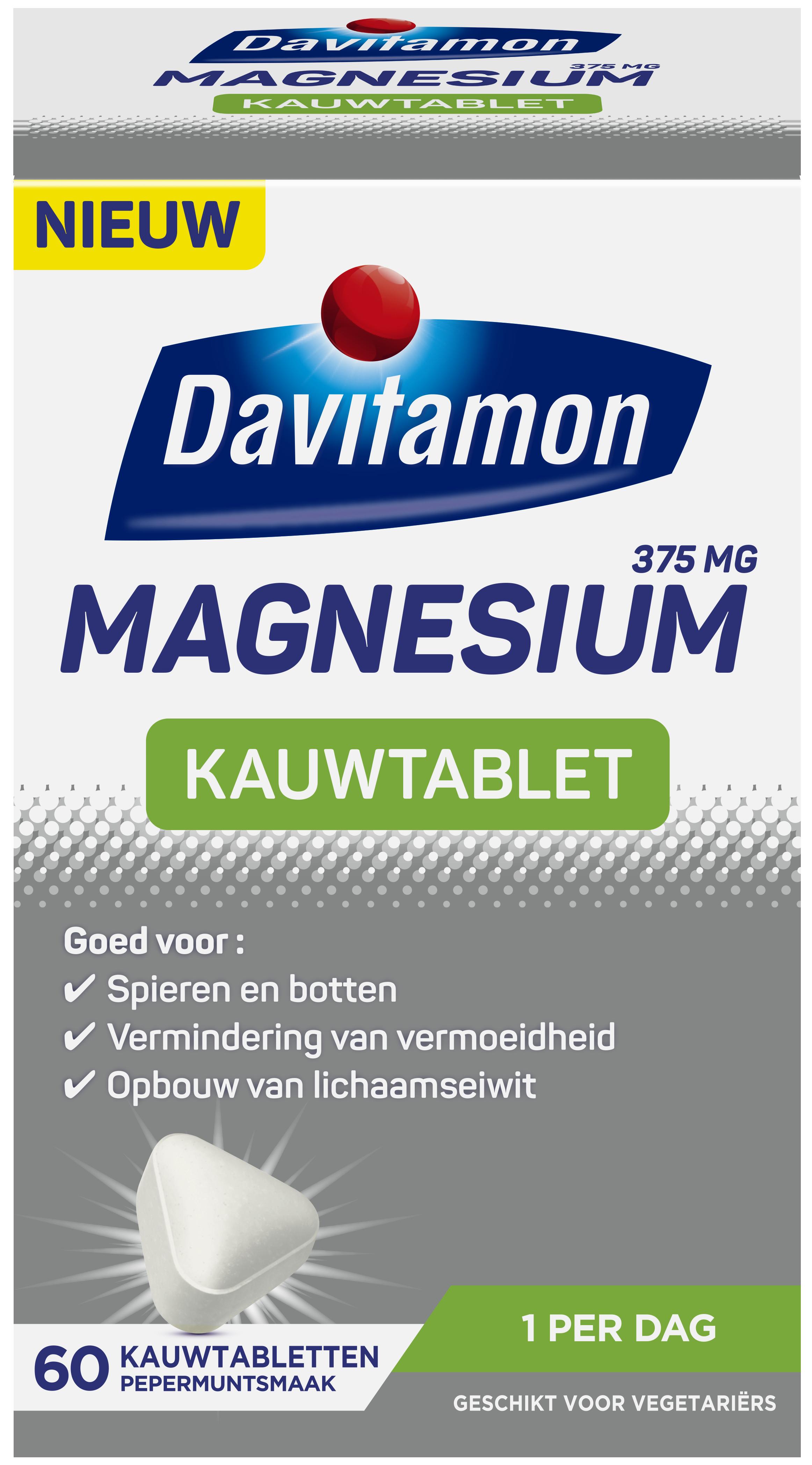 Davitamon Magnesium 375mg Kauwtablet