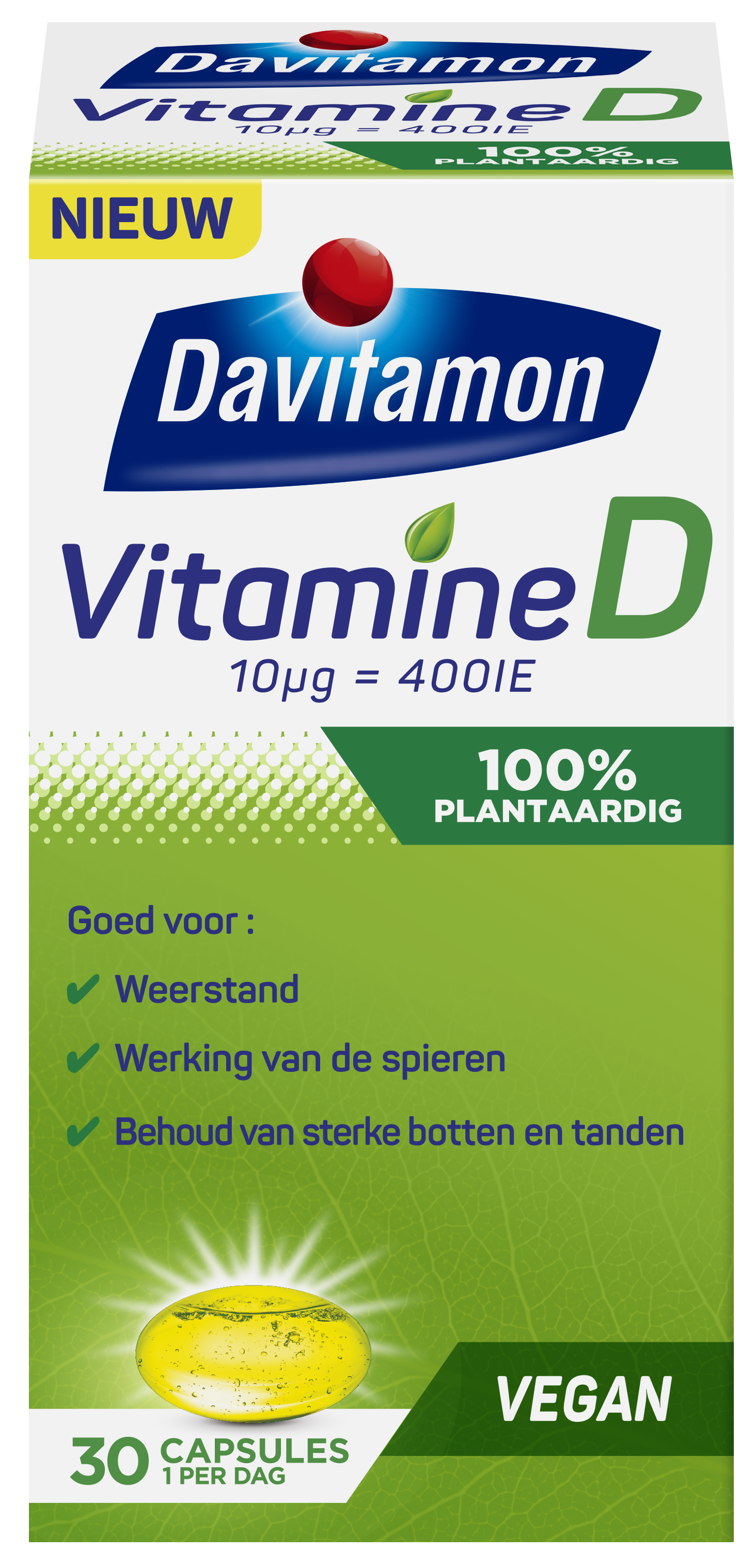 Davitamon Vitamine D 100% plantaardig – 1 per dag